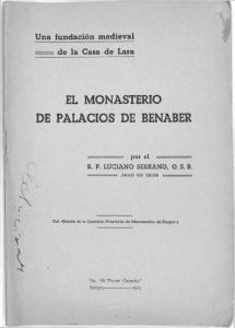 EL MONASTERIO DE PALACIOS DE BENABER