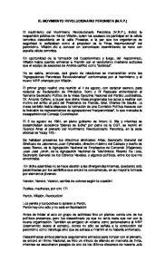 EL MOVIMIENTO REVOLUCIONARIO PERONISTA (M.R.P.)