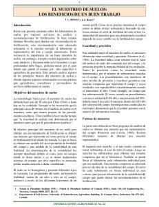 EL MUESTREO DE SUELOS: LOS BENEFICIOS DE UN BUEN TRABAJO