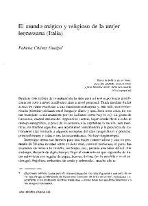 El mundo miigico y religioso de la mujer leonessana (Italia)