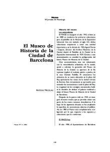 El Museo de Historia de la Ciudad de Barcelona