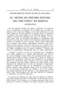 EL MUSEO DE HISTORIA NATURAL DEL PAIS VASCO EN MARCHA