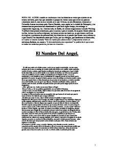 El Nombre Del Angel