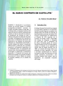 EL NUEVO CONTRATO DE CUOTA LITIS 1
