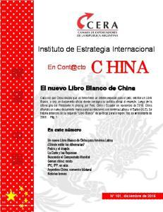 El nuevo Libro Blanco de China