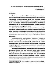 El nuevo marco legal del accionar provincial en el MERCOSUR