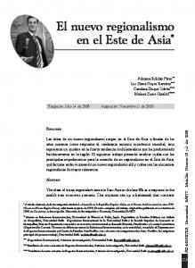 El nuevo regionalismo en el Este de Asia *