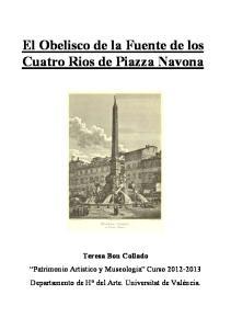 El Obelisco de la Fuente de los Cuatro Rios de Piazza Navona