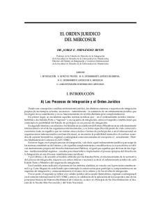 EL ORDEN JURIDICO DEL MERCOSUR