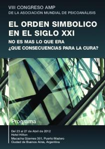 EL ORDEN SIMBOLICO EN EL SIGLO XXI