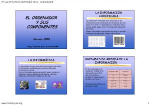 EL ORDENADOR Y SUS COMPONENTES
