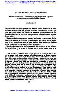 EL ORIGEN DEL ESTADO MEXICANO