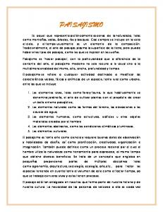EL ORIGEN DEL PAISAJISMO: