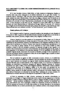 EL P. ARINTERO Y LA OBRA DEL AMOR MISERICORDIOSO EN EL JUBILEO DE LA MISERICORDIA