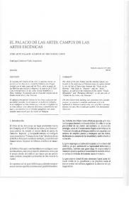 EL PALACIO DE LAS ARTES. CAMPUS DE LAS ARTES ESCÉNICAS