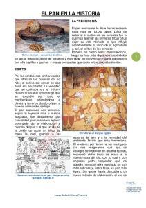 EL PAN EN LA HISTORIA