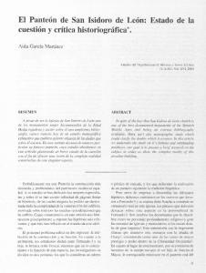 El Panteón de San Isidoro de Lt cuestión y crítica historiográfica*