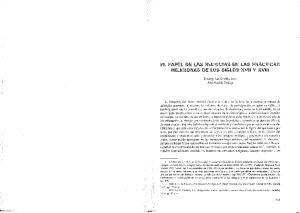 EL PAPEb DE LAS WELlQUlAS EN LAS PRACTICAS RELIGIOSAS DE LOS SIGLOS XVII Y XV111