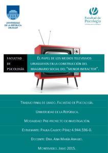 EL PAPEL DE LOS MEDIOS TELEVISIVOS