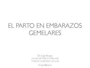 EL PARTO EN EMBARAZOS GEMELARES