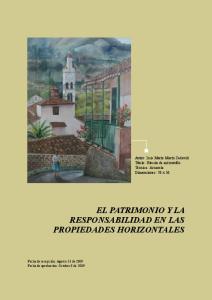 EL PATRIMONIO Y LA RESPONSABILIDAD EN LAS PROPIEDADES HORIZONTALES