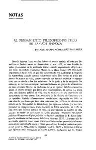 EL PENSAMIENTO FILOSOFICO-POLITICO DE BARUCH SPINOZA
