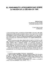 EL PENSAMIENTO LATINOAMERICANO SOBRE LA NACION EN LA DECADA DE 1920
