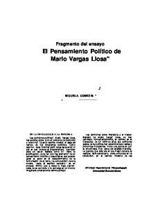 El Pensamiento Político de Mario Vargas Llosa
