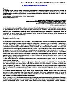 EL PENSAMIENTO POLÍTICO DE SADE