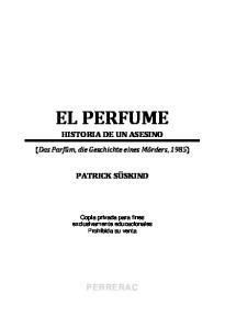 EL PERFUME HISTORIA DE UN ASESINO