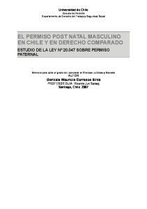 EL PERMISO POST NATAL MASCULINO EN CHILE Y EN DERECHO COMPARADO