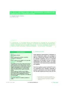 EL PLAN CONTABLE PARA LAS SOCIEDADES COOPERATIVAS: COMENTARIOS Y CONSIDERACIONES
