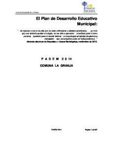 El Plan de Desarrollo Educativo Municipal: