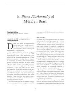 El Plano Plurianual y el M&E en Brasil