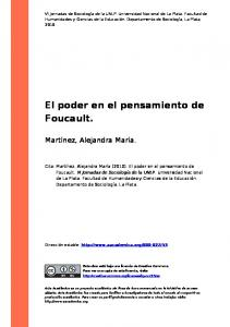 El poder en el pensamiento de Foucault