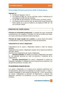EL PODER JUDICIAL 2015