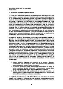 EL PODER JUDICIAL: LA JUSTICIA Marisa Ramos. 1. El concepto de justicia y del Poder Judicial