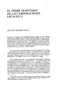 EL PODER TRIBUTARIO DE LAS CORPORACIONES LOCALES(*)