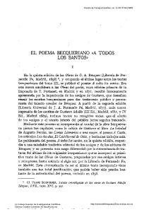 EL POEMA BECQUERIANO ~A LOS SANTOS>>