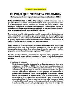 EL POLO QUE NECESITA COLOMBIA