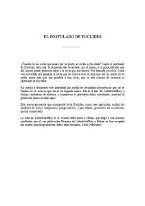 EL POSTULADO DE EUCLIDES