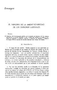 EL PRINCIPIO DE LA IRRENUNCIABILIDAD DE LOS DERECHOS LABORALES