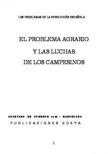 EL PROBLEMA AGRARIO Y LAS LUCHAS DE LOS CAMPESINOS