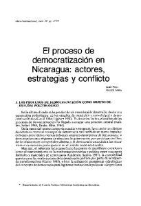 El proceso de democratizacion en Nicaragua: actores, estrategias y conflicto