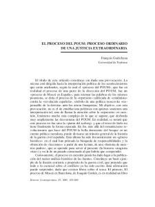 EL PROCESO DEL POUM: PROCESO ORDINARIO DE UNA JUSTICIA EXTRAORDINARIA