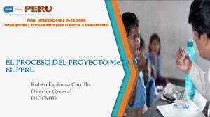 EL PROCESO DEL PROYECTO MeTA EN EL PERU