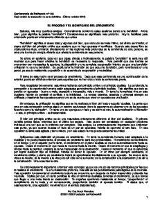 EL PROCESO Y EL SIGNIFICADO DEL CRECIMIENTO