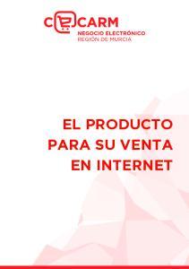 EL PRODUCTO PARA SU VENTA EN INTERNET