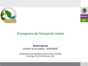 El programa de Transporte Limpio
