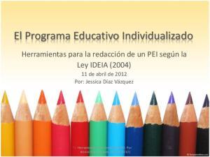 El Programa Educativo Individualizado